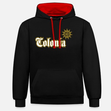 Colonia Colonia (Home of the dome) - Unisex Contrast Hoodie