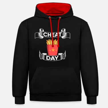 Cheatday fitness gift bodybuilder gym - Unisex Contrast Hoodie