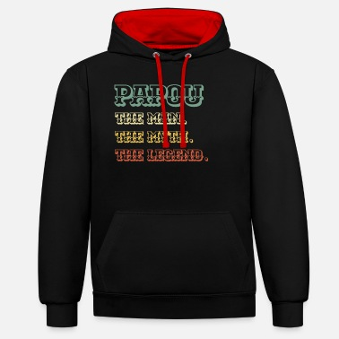 PAPOU The Man The Myth The Legend - Unisex Contrast Hoodie
