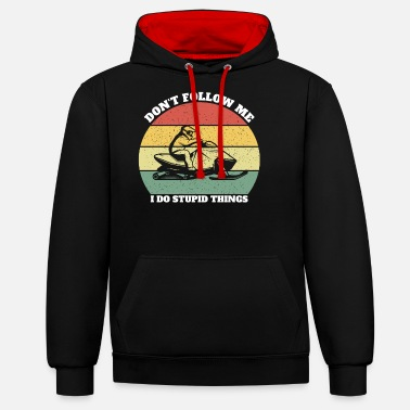 Snowmobile Gift Idea Christmas Birthday - Unisex Hoodie zweifarbig