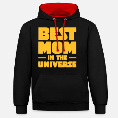 Univers Best Mom In The Universe - Sweat à capuche contrasté unisexe