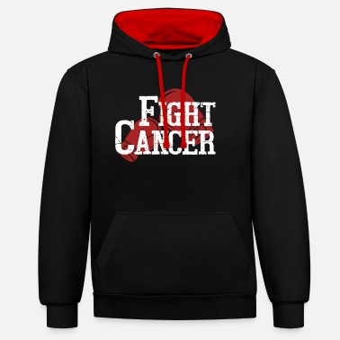 Fight Cancer Fight cancer - Unisex Contrast Hoodie
