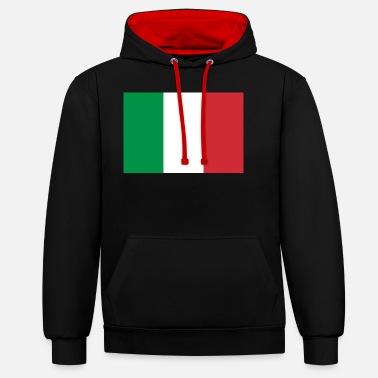 Friends Of Italy Italy flag - Unisex Contrast Hoodie