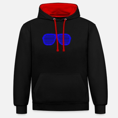 Shade blue shades - Unisex Contrast Hoodie