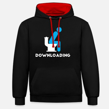 Download Downloading... - Unisex Contrast Hoodie
