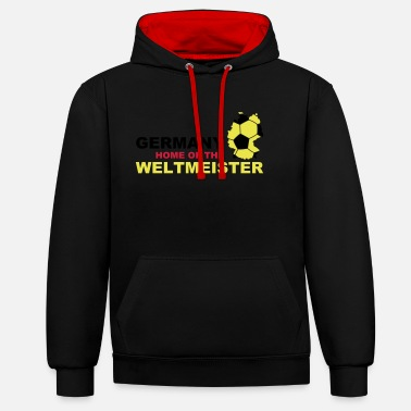 Soccer germany home of the weltmeister - Unisex Hoodie zweifarbig