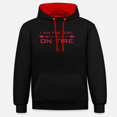 Hunger I am the girl on fire - Unisex Contrast Hoodie