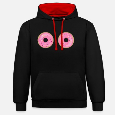 Frost DONUT BOOBS breasts breasts funny gift - Unisex Contrast Hoodie