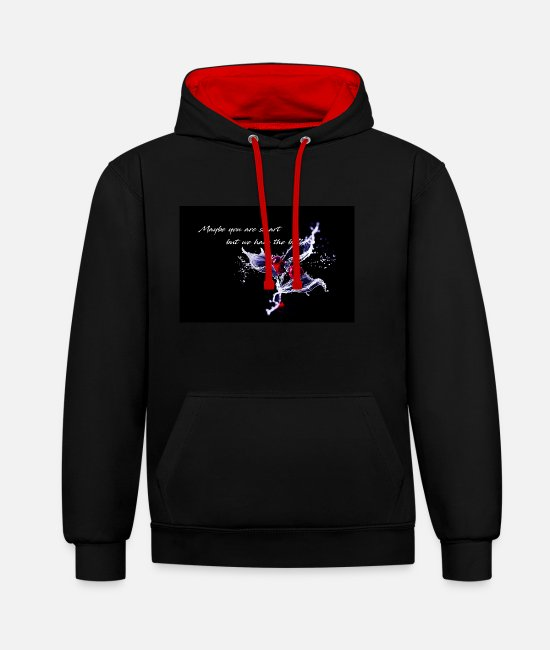 Water Hoodies & Sweatshirts - Cherry - Maybe you are smart - Unisex Contrast Hoodie black/red