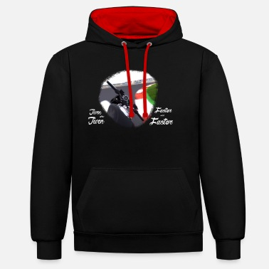 Turn Turn after turn - Unisex Contrast Hoodie