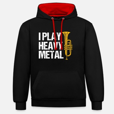 Composer fI Play Heavy Metal Flugelhorn Player Wind - Unisex Contrast Hoodie