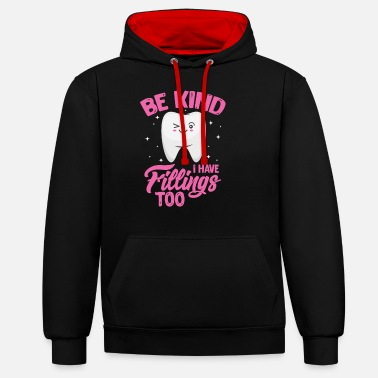 Tooth tooth - Unisex Contrast Hoodie