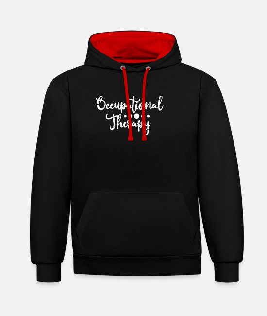 Bless You Hoodies & Sweatshirts - occupational therapist - Unisex Contrast Hoodie black/red