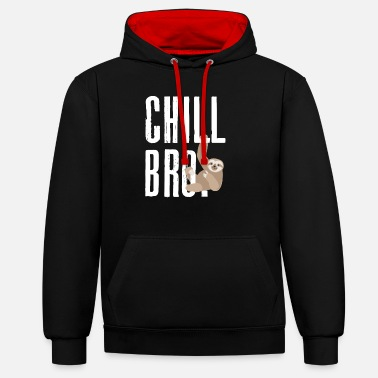 Chill Cool lättja Koppla Faul Chill Bro Chiller Easy - Kontrast hoodie unisex