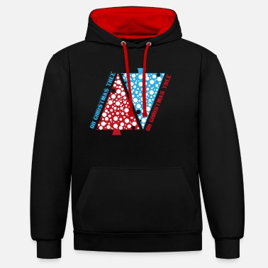 Oh Christmas Tree OH CHRISTMAS TREE - Unisex Contrast Hoodie