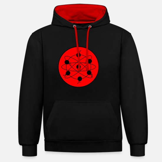 Abstract Universe Pullover & Hoodies - Abstract Universe - Unisex Hoodie zweifarbig Schwarz/Rot