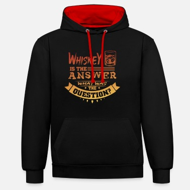 Whiskey is the answer - Unisex Hoodie zweifarbig