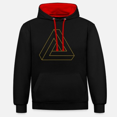 Impossible Triangle 3D - Sweat à capuche contrasté unisexe