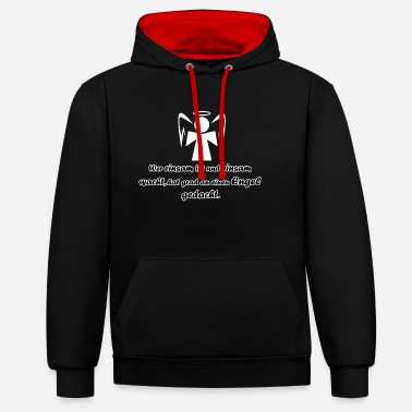 Loneliness Angel - loneliness - Unisex Contrast Hoodie