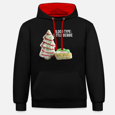Fitness Blood Type Little Debbie Chocolate Cupcakes Funny - Unisex Contrast Hoodie