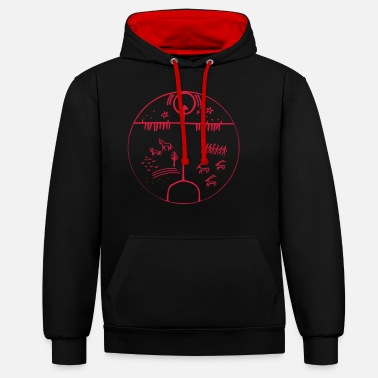 Cosmology three worlds of cosmology - Unisex Contrast Hoodie