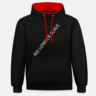 Slave Female No longer slave - Unisex Contrast Hoodie
