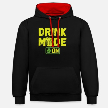 Festivals Drink Mode on - Unisex Contrast Hoodie