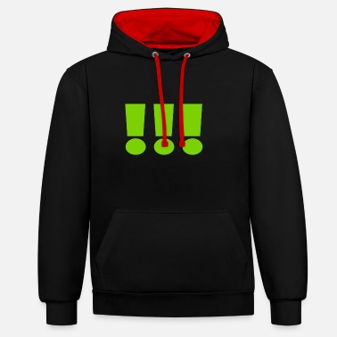 Laughter 3 exclamation marks - Unisex Contrast Hoodie