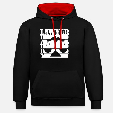 Justice-authority Lawyer attorney father saying gift - Unisex Contrast Hoodie