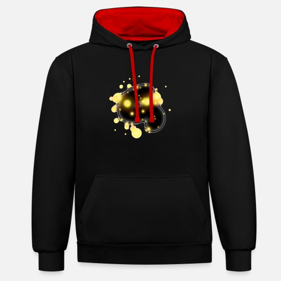 Art Hoodies & Sweatshirts - design - Unisex Contrast Hoodie black/red