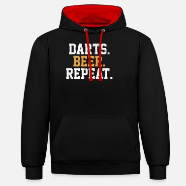 Bar Pub Dart Beer Bar Pub Vintage Arrow - Unisex Contrast Hoodie