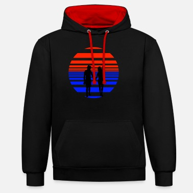 Holiday summer recreation vacationer gift - Unisex Contrast Hoodie