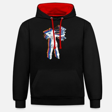 Bowhunter bowhunting - Unisex Contrast Hoodie