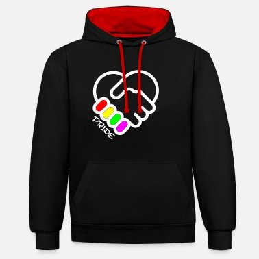 Gay Rights LGBT Gay Pride Equal Rights - Unisex Contrast Hoodie