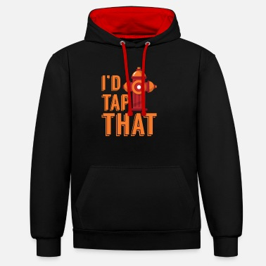 Fire Fire Department Firefighter Fire Extinguisher Hydrant Gift - Unisex Contrast Hoodie