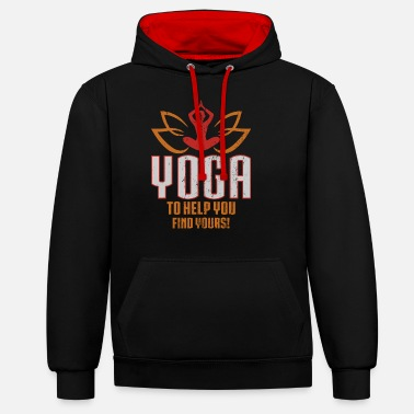 Yoga helps you! - Unisex Contrast Hoodie