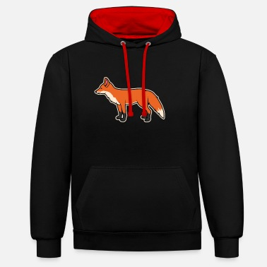 Fox Fox Silhuette - Unisex Contrast Hoodie