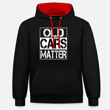Old Cars Matter Design Automobile & Hot Rods - Unisex Hoodie zweifarbig