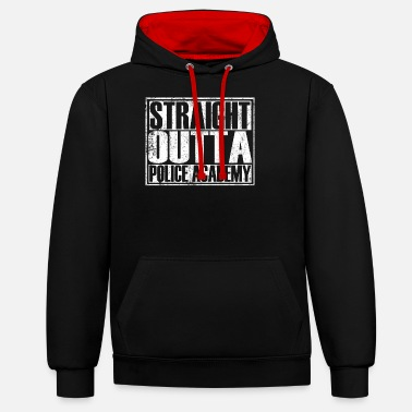 Uncle To Be Straight Outta Police Academy - Unisex Contrast Hoodie