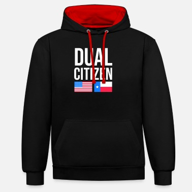 United States Two-citizen Texan design for fans of the lone - Unisex Contrast Hoodie