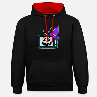 Watch Tv watch TV - Unisex Contrast Hoodie