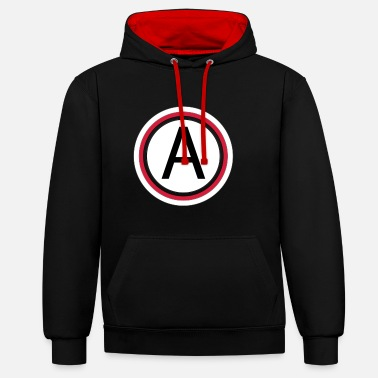 Lettering Letter a - Unisex Contrast Hoodie