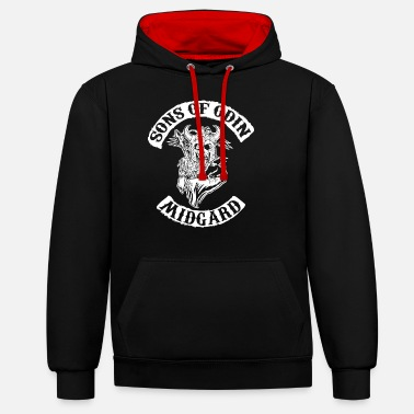 Soldiers Sons of odin - Unisex Contrast Hoodie