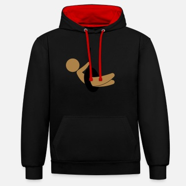 Children S Room Child sitting on a swing - Unisex Contrast Hoodie