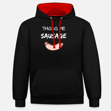Denglisch This Is Me Sausage Gift Men - Unisex Contrast Hoodie