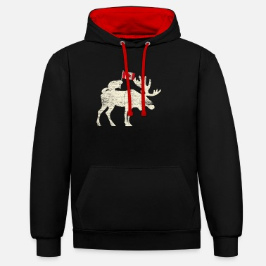 Canadian Canada Canadian Flag - Unisex Contrast Hoodie
