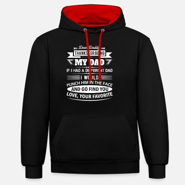Father And Daughter Dear Daddy... - Unisex Contrast Hoodie