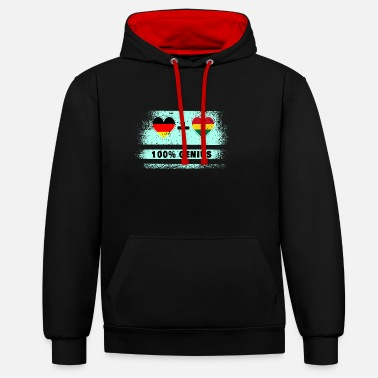 Kumasi Germany and Ghana 100% brilliant / gift - Unisex Contrast Hoodie