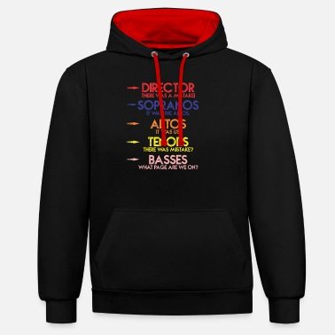 Choir Funny music choir singing men children's choir - Unisex Contrast Hoodie