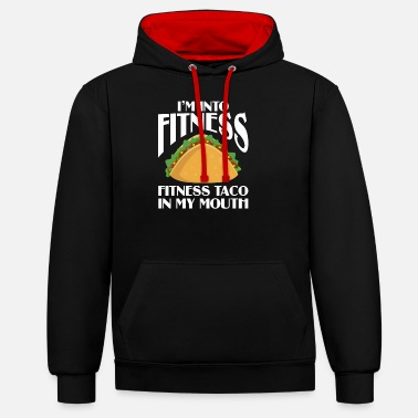 Mouth Taco fitness taco in my mouth - Unisex Contrast Hoodie